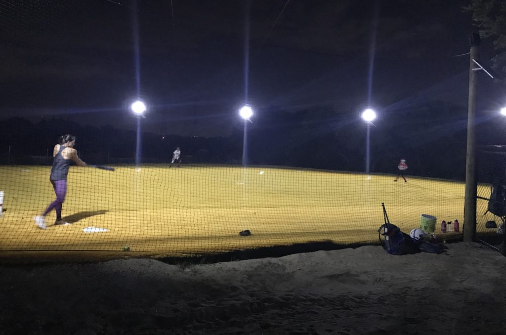 outdoor turf field with lights for rent