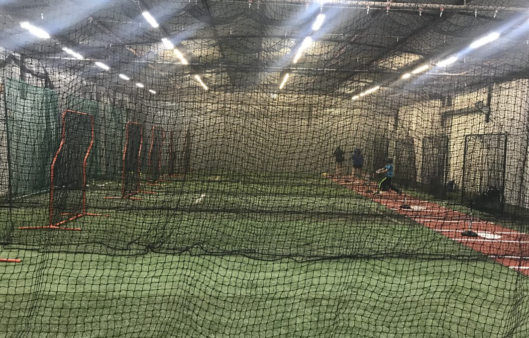 indoor batting cage facility